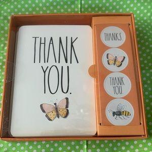 NWT Rae Dunn Thank You Note Set (Butterflies)